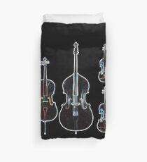 The Four Strings - Violin, Viola, Cello, Bass  Duvet Cover