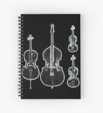 The Four Strings - Violin, Viola, Cello, Bass  Spiral Notebook
