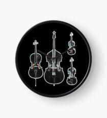 The Four Strings - Violin, Viola, Cello, Bass  Clock
