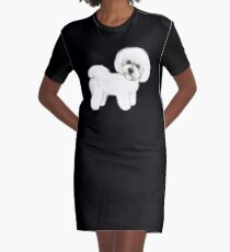 Bichon Frise dog Graphic T-Shirt Dress