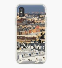 Buildings roofs cityscape scenery. iPhone Case