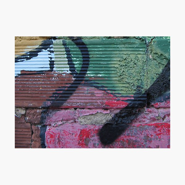 Grafitti on Mural Photographic Print