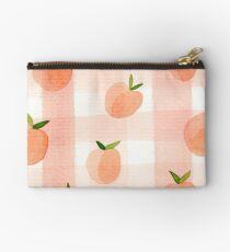 Peach Gingham Studio Pouch