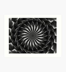 Gray Kaleidoscope Art 11 Art Print