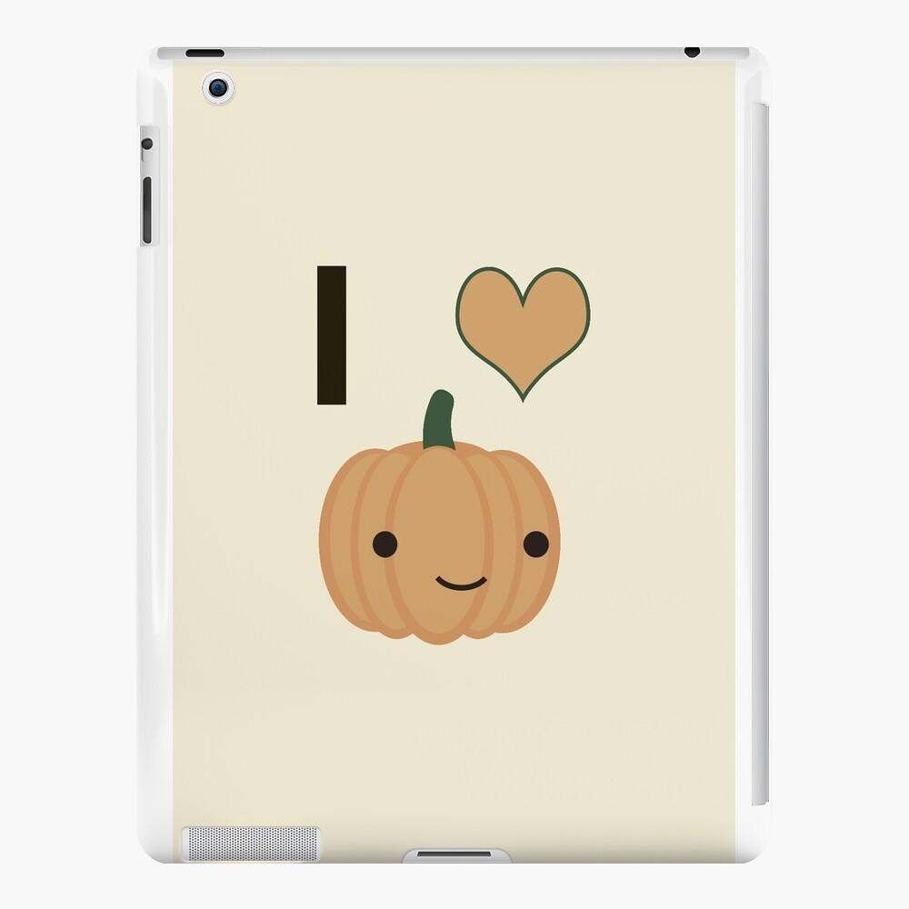 Ich liebe Kürbis iPad-Hüllen & Klebefolien