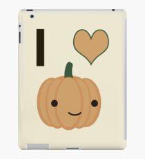 Ich liebe Kürbis iPad-Hülle & Klebefolie