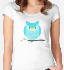 Cute little owl Women's Fitted Scoop T-Shirt