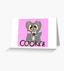 Cookie Cat Greeting Card