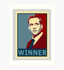 Winner Harvey Art Print
