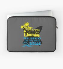 Surfing bus wave palm surfer saying Laptop Sleeve