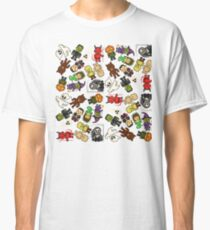 Pixel Halloween Monsters Pattern (large) Classic T-Shirt