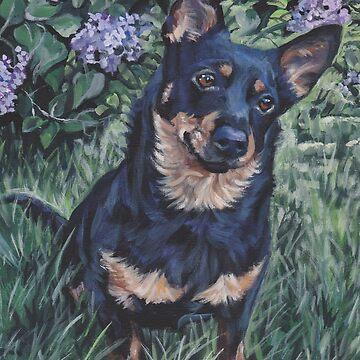 Lancashire Heeler beautiful Fine Art Dog Painting by lashepard