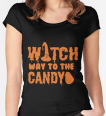 halloween gift t-shirt for women Women's Fitted Scoop T-Shirt