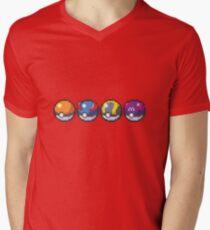 Pokeballs Men's V-Neck T-Shirt