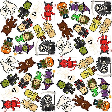 Pixel Halloween Monsters Pattern (small) by gkillerb