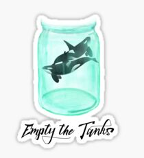 Empty The Tanks Killer Whale Free the Orcas  Sticker