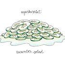 Cucumber Salad | Agurkesalat by Gina Lorubbio