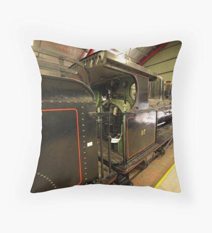 Steam locomotive in Australia's National Railway Museum. Throw Pillow