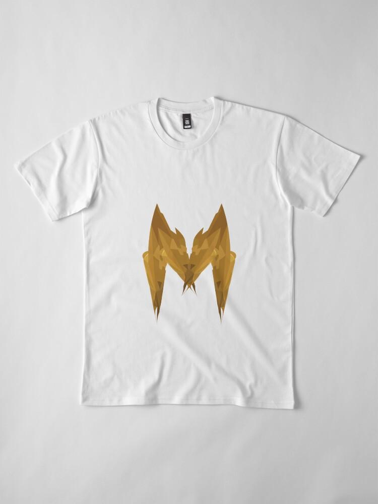 Alternative Ansicht von M - Die goldenen Buchstaben Premium T-Shirt