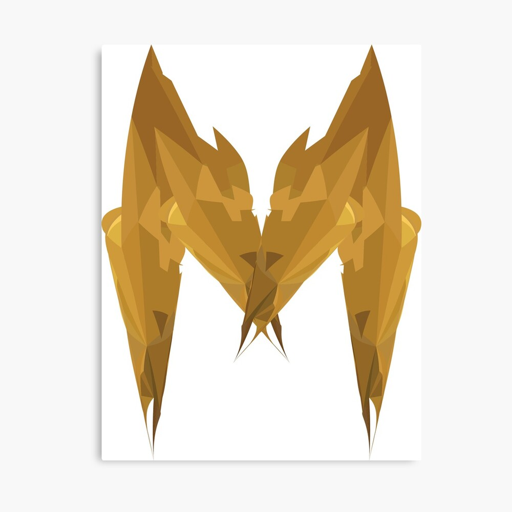 M - Die goldenen Buchstaben Leinwanddruck