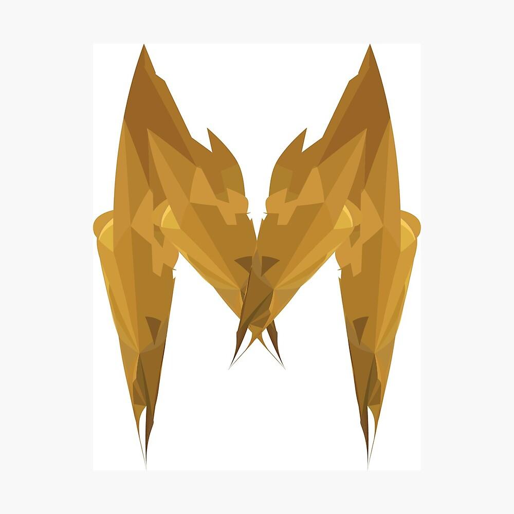 M - Die goldenen Buchstaben Fotodruck