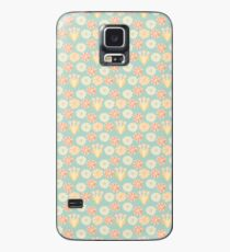 Soft Pastel Retro Floral  Case/Skin for Samsung Galaxy