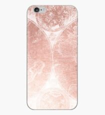 Trendy Vintage Rosegold World Map 1801 Rose Gold Pink iPhone Case