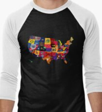 College Country Men's Baseball ¾ T-Shirt