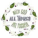 With God All Things are Possible by Pamela Maxwell