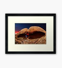 Heart Arch in the Alabama Hills. Framed Print