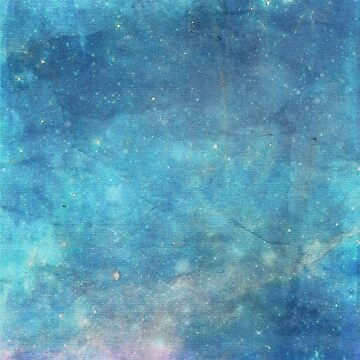 Abstract Turquoise Sparkle Linen Stars Design by naturemagick