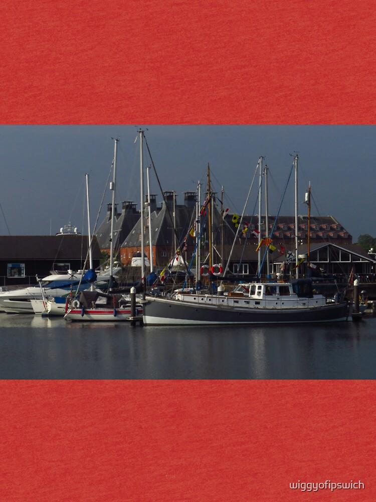 Boote und Mälzerei, Ipswich Wet Dock von wiggyofipswich
