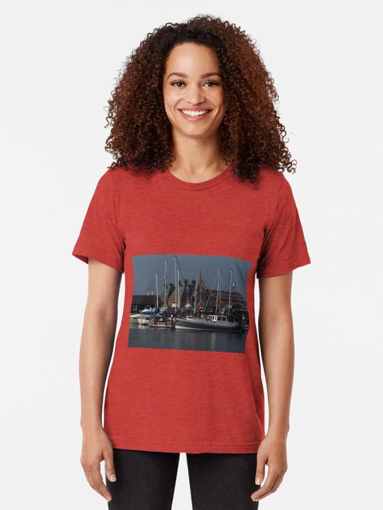 Alternative Ansicht von Boote und Mälzerei, Ipswich Wet Dock Vintage T-Shirt