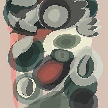Pastel Abstract Art Pattern Vintage Fashion by signorino