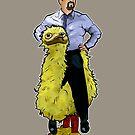 David Brent (and bird) by jamestomgray
