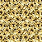 Pretty Golden Yellow Sunflower Pattern by naturemagick