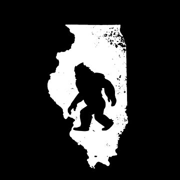 Bigfoot Sasquatch Sighted In State Of Illinois Shirt Gear by DynamicDesign