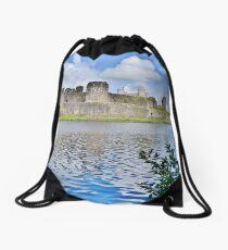 Caerphilly Castle Drawstring Bag