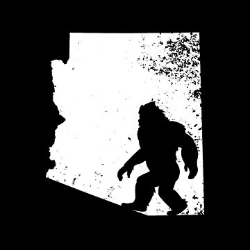 Bigfoot Sasquatch Sighted In State Of Arizona Shirt Gear by DynamicDesign
