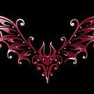 Süße Tribal Fledermaus, kleiner Blutsauger von Christine Krahl