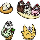 Food Dragon Sticker Pack 7 by Rebecca Golins