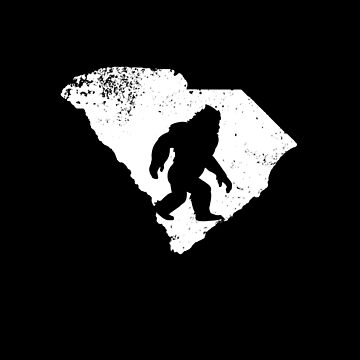 Bigfoot Sasquatch Sighted In State Of South Carolina Shirt Gear by DynamicDesign