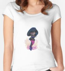 Shy black mermaid Women's Fitted Scoop T-Shirt