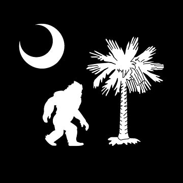 Bigfoot Sasquatch In South Carolina State Flag Shirt Gear by DynamicDesign