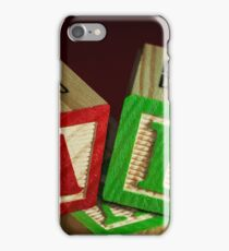 Wooden Alphabet Blocks  iPhone Case/Skin