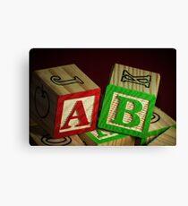 Wooden Alphabet Blocks  Canvas Print