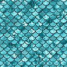 Mermaid Aqua Shimmer Pattern by blueskywhimsy