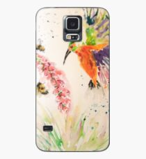 Kingfisher and Foxglove Case/Skin for Samsung Galaxy