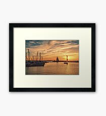 *And God made the two great lights—the greater light to rule the day and the lesser light to rule the night—and the stars**Genesis 1:16* Framed Print