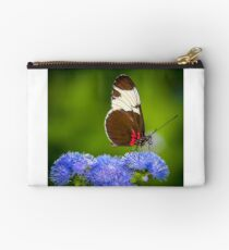 Butterfly on green background and the grass Studio Pouch